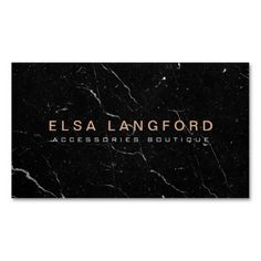 Luxe Black Marble I Boutique Fashion Jewelry Pack Of Standard Business Cards Luxury