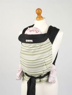 Mei Tai Sling - Olive Green Stripes