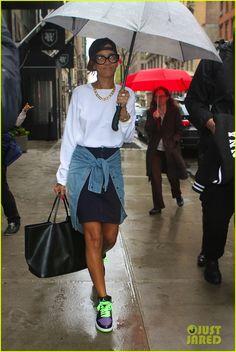 """Rihanna wearing Air Jordan 1 """"Joker"""""""