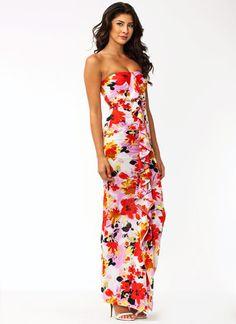 Ruffled Up Floral Maxi Dress