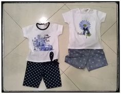 Completino bambina t-shirt e bermuda taglie da 12 a 30 mesi Completino t-shirt e shorts taglie d a12 a 30 mesi
