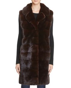 Maximilian Furs Mink Fur Long Vest - Bloomingdale's Exclusive