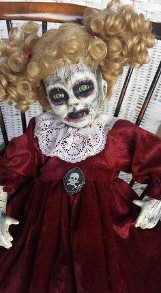 Horror Doll, Zombie girl by Rebornrejects on Etsy