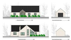 This Project consists of the construction of a family home and detached domestic Garage. Cottage Extension, Bungalow, Home And Family, Garage, Construction, House Design, Projects, Ideas, Carport Garage