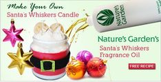 Santa candle by Natures Garden candle making supplies