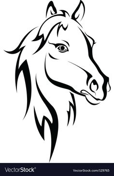 horse head: Black horse silhouette isolated on white for design Horse Head, Horse Art, Horse Outline, Horse Stencil, Horse Tattoo Design, Tattoo Designs, Tattoo Ideas, Horse Silhouette, Wood Burning Patterns