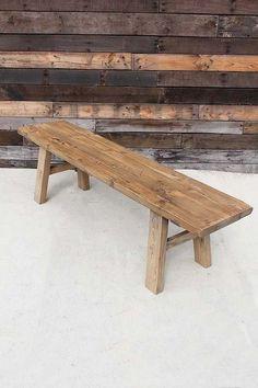 ◆003-E-CNC-0015◆ウッドベンチ◆自然な木肌の表情が魅力的なベンチです。