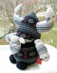 Free Shipping Unique Handmade Sock Viking Toy Baby by RageRabbit
