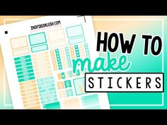 How To Make Planner Stickers: PDFs, Icons, and Perfect Sheets | InspiredBlush - YouTube