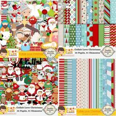 Collab Love Christmas com Armazém Criativo, Natal, Papai Noel, Feliz Natal, Navidad, Papá Noel, Feliz Navidad, Christmas, Santa Claus, Merry Christmas, Papéis, Elementos, Minions, Papers, Elements, Kit Digital, Digital Kit.