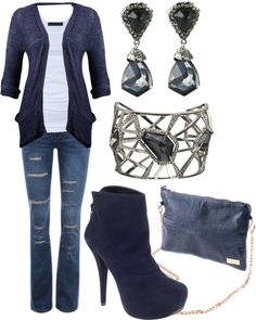 """Navy Blue"" by stay-at-home-mom on Polyvore"