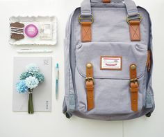 Lavender doughnut macaroon backpack classic,stylish and practical