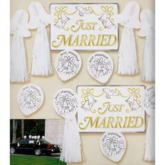 Just Married Car Decoration Kit 246806-am