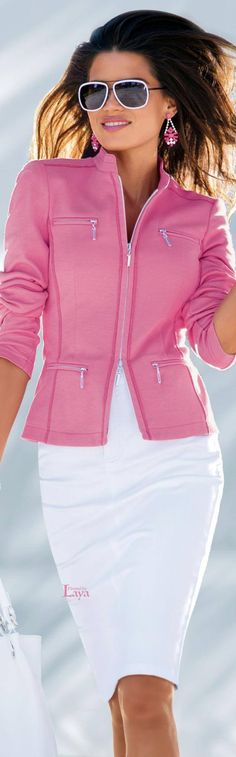 ♔LAYA♔MADELEINE♔ Love this jacket--would be great with white jeans too.