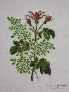 Кусочек лета 2  Piece of summer 2. Yamanashi Mikiko «Danish embroidery of Gerda Bengtsson»