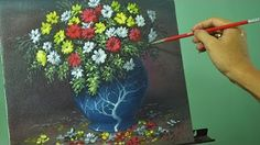Bouquet Of Poppies In Glass Vase On Windowsill Acrylic Painting - YouTube