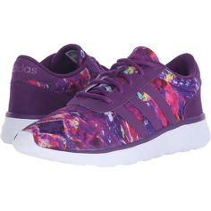 adidas Lite Racer Women's Shoes ($50) ❤ liked on Polyvore featuring shoes, athletic shoes, purple, purple athletic shoes, grip shoes, adidas footwear, lightweight shoes and breathable shoes