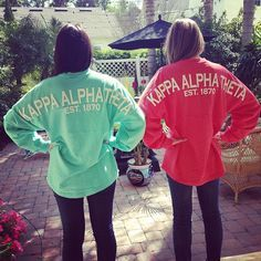 Cute Kappa Alpha Theta Spirit Jersey Idea!| Start a custom order today at Adam Block Design | Custom Greek Apparel & Sorority Clothes | www.adamblockdesign.com