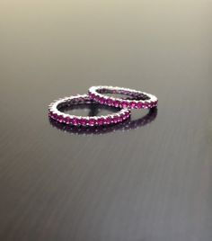 Eternity Band  Pink Topaz Engagement Band  Pink by DeKaraDesigns