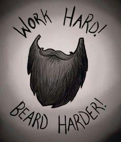 via Beard Harder! Beard Styles For Men, Hair And Beard Styles, Beard Art, Men Beard, Beard Quotes, Beard Growth Oil, Beard Humor, Epic Beard, Beard Love