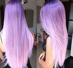 Purple Violet pinkish ombre hair color