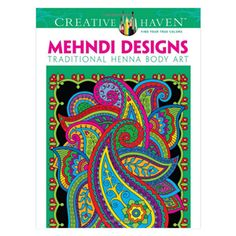 Mehndi Designs Coloring Book. Unique Adult Coloring Books, office toys, supplies, and products at www.officeplayground.com use code P10 for 10% off