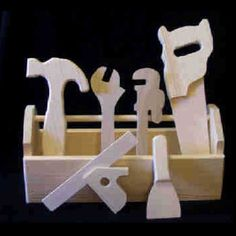 Toy,wooden,tool,box,with,kit,Toys, Children, Wood, tool_box, wood, hammer, saw, square, pipe_wrench, adjustable_wrench, tool_kit, waldorf, tools,  pine, birch, poplar, baltic_birch, plywood