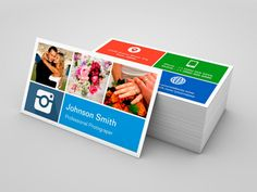 Photography Collage - Creative Modern Metro Style Business Cards