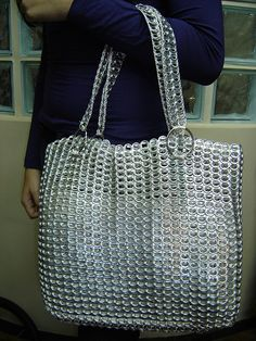 Can Tab Creations Soda Tab Crafts, Can Tab Crafts, Aluminum Can Crafts, Aluminum Cans, Pop Tab Purse, Plastic Bottle Tops, Pop Can Tabs, Soda Tabs, Duck Tape Crafts