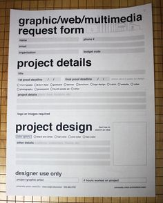 UWGB Graphic Request Form on Behance
