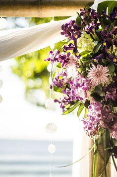 Photography: Stories Wedding Photography - www.myweddingincostarica.com  Read More: http://www.stylemepretty.com/destination-weddings/2014/04/01/purple-costa-rica-destination-wedding/
