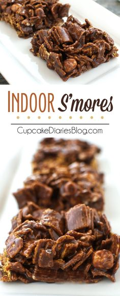 Indoor S'mores - A perfect treat with the flavors of an ooey gooey s'more!