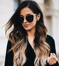 Hair Balayage Brunette Lighter Blonde Highlights Colour 64 Ideas For 2019 Brunette Color, Ombre Hair Color, Brunette Hair, Blonde Highlights On Dark Hair Brunettes, Ombre For Dark Hair, Carmel Ombre Hair, Blonde Balayage Highlights On Dark Hair, Caramel Balayage Brunette, Black And Blonde Ombre