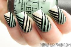 NOTD: Freehand Striping Practice - The Nail Polish Project