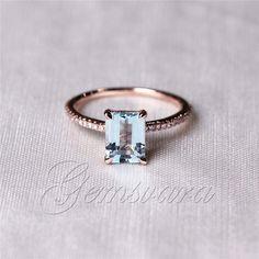 Emerald Cut VS 6x8mm Morganite Ring H/SI Diamond 14K Rose Gold Wedding Ring/Band | Jewelry & Watches, Engagement & Wedding, Wedding & Anniversary Bands | eBay!