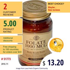 Solgar #Solgar #Vitamins #FolicAcid