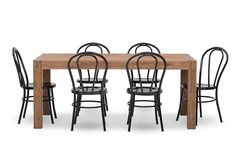 Silverwood 7 Piece Dining Suite with Bentwood Replica Dining Chairs | Super A-Mart