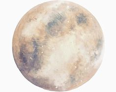 Watercolor Moon Art Print Hand-Finished with Silver Leaf