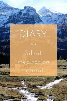 Diary of a silent meditation retreat. 10 days of meditating in silence Meditation Steps, Buddhist Meditation Techniques, Meditation For Health, Meditation For Anxiety, Power Of Meditation, Walking Meditation, Meditation Retreat, Meditation For Beginners, Meditation Benefits
