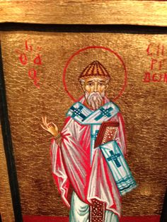 Holy Icon of Saint Sryridon hand made - www.nioras.com