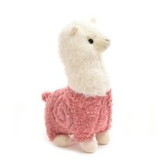 $22.00 | Alpaca Plush Toy Red | High Quality Plush & PP Cotton. Teach your children about farm animals! Great for your plush collection! Features a swirl pattern design.  http://www.amazon.com/dp/B0195ZSPOI/ref=cm_sw_r_pi_dp_5Ku8wb0JRFNYF #sheep #alpaca #toy #baby # plush #pink