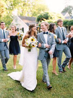 gray + navy bridal party | Graham Terhune