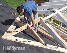 Tie into existing roof.