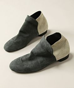 Grey slip on shoes | Loafers