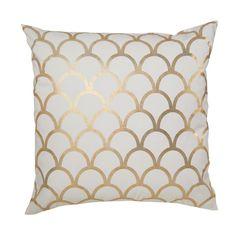 gold scallop pillow
