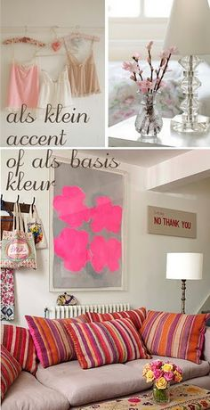 Pink accent