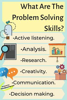 What are the problem solving skills? - Problem Solving