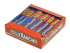 """Sweet and delicious """"Jolly Rancher Cherry Stix"""" from Give in to Temptation! Nostalgic Candy, Candy Brands, Jolly Rancher, Retro Baby, Bulk Candy, Red Candy, Favorite Candy, My Childhood, Cherry"""