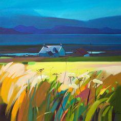 Scottish artist, Pam Carter Artwork..landscape in lovely colour