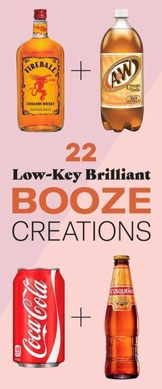 22 Bizarre Alcohol Combinations That Actually Taste Amazing Definitely plan on making a few of these! 22 Bizarre Alcohol Combinations That Actually Taste Amazing Definitely plan on making a few of these! Beste Cocktails, Cocktails Bar, Liquor Drinks, Cocktail Drinks, Cocktail Recipes, Bourbon Drinks, Craft Cocktails, Fireball Drinks, Cocktail Maker